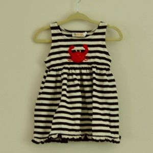 Little Girls Summer Vacation Dress with Stripes
